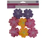 FLOWER HEAD FELT 8 COUNT