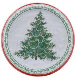 CLASSIC XMAS TREE PLATES 8 COUNT 10.25 INCH