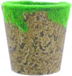 FLOWER POT WITH MOSS 8 X 7.5 CM