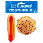 LIL BUDDIES PET CHEW SQUEAKY TOY 2PC SET