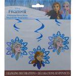FROZEN HANGING DECORATION 3 PACK
