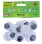 WIGGLE EYES 3 CM 20 COUNT
