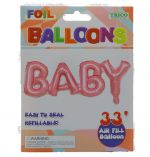 PINK BABY FOIL BALLOON 33 INCH