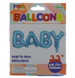 BLUE ABY FOIL BALLOON 33 INCH