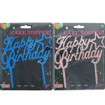 HAPPY BIRTHDAY GLITTER CAKE TOPPER