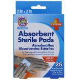ABSORBENT STERILE PADS 2 X 2 INCH 25 COUNT