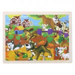 Wooden Ranch Puzzle Set for Kids 80 pieces Puzzle For Kids Learning Toys Educational Toys - Size 12 x 9 in