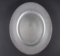 PLATE CHARGER ROUND SILVER 13 IN