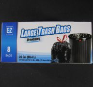 LARGE TRASH BAGS 26 GL