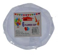 CLEAR FLOWER CUP 6 COUNT