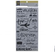 VACATION PHRASE STICKERS 34 PC