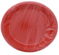 RED 10 INCH PLATES 8 PACK