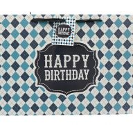 BLUE HAPPY BIRTHDAY MEDIUM GIFT BAG