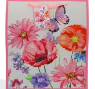 BUTTERFLY FLORAL MEDIUM GIFT BAG