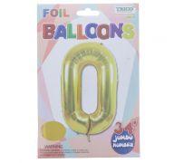 GOLD #0 FOIL BALLOON 34 INCH
