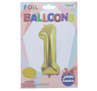 GOLD #1 FOIL BALLOON 34 INCH