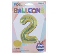 GOLD #2 FOIL BALLOON 34 INCH