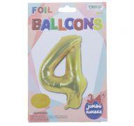 GOLD #4 FOIL BALLOON 34 INCH