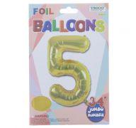 GOLD #5 FOIL BALLOON 34 INCH