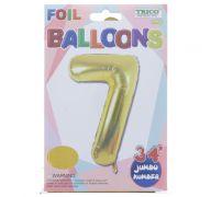 GOLD #7 FOIL BALLOON 34 INCH