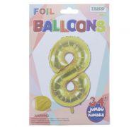 GOLD #8 FOIL BALLOON 34 INCH