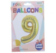 GOLD #9 FOIL BALLOON 34 INCH