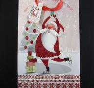 CHRISTMAS MEDIUM GIFT BAG ICE SKATING