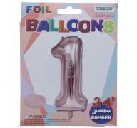 ROSE GOLD  #1 FOIL BALLOON 34 INCH