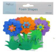 FOAM FLOWER SHAPE 6 PC