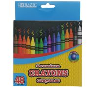 48 Counts Premium Color Crayons Coloring Set Assorted Colors School Art Gift for Kids Teens 1-Pack
