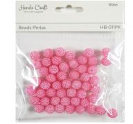 PINK BEADS 50 PC