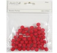 RED BEADS 50 PC