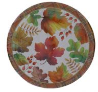 HELLO FALL 7 INCH PAPER PLATES 12 COUNT