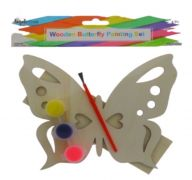 WOODEN BUTTERFLY PAINTING SET