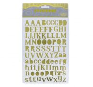 GOLD LETTER AND NUMBER STICKERS