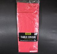 Plastic Table Cover in Red Color Party Table Cloths Disposable Rectangle Tablecloth - Size 56 x 108 Inches