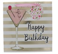 BIRTHDAY MARTINI GLASS GIFT BAG MEDIUM