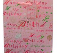 PINK HAPPY BIRTHDAY MEDIUM GIFT BAG