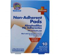 NON-ADHERENT PAD 2 X 3 INCH 10 COUNT