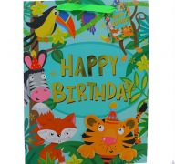 JUNGLE BIRTHDAY MEDIUM GIFT BAG