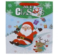 SANTA CLAUSE MEDIUM GIFT BAG