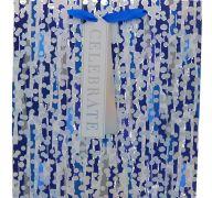 BLUE RAINBOW GRAY POLKA DOT EXTRA LARGE GIFT BAG