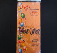 Orange Plastic Table Cover 54 In X 108 In