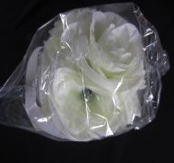 ROSE FLOWER IVORY 4IN