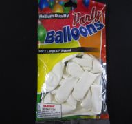 BALLOONS WHITE 12IN 10CT