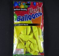BALLOONS YELLOW12IN