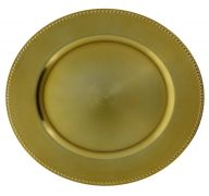 GOLD PLASTIC PLATE CHARGER 13 INCH