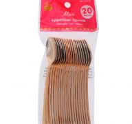 MINI APPETIZER SPOON ROSE GOLD 20 PACK