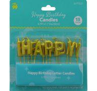 HAPPY BIRTHDAY CANDLE 0.79 X 1.1 INCH