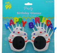 HAPPY BIRTHDAY GLASSES 4.72 X 7.08 INCH